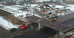 [WIDEO] Zakończyła się budowa wiaduktu. Rejestracja prac w timelapse