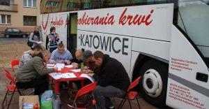 Grudniowa akcja poboru krwi na Placu Jana Pawła II