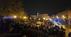 [FOTO] Ostatni dzień planowanych protestów w strugach deszczu
