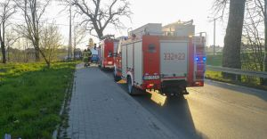 [FOTO] Ligota: samochód wjechał w grupę kolarzy