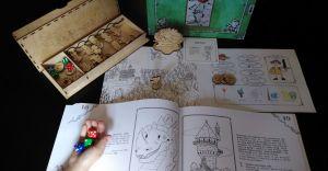 [WIDEO] Mieszkaniec Miliardowic tworzy gry planszowe dla dzieci