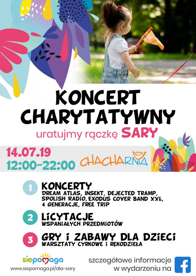 Koncert charytatywny - Uratuj rączkę Sary!