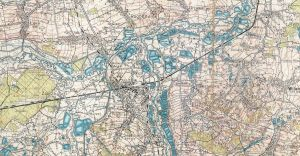 Czechowice, Dziedzice i okolice na przedwojennej mapie