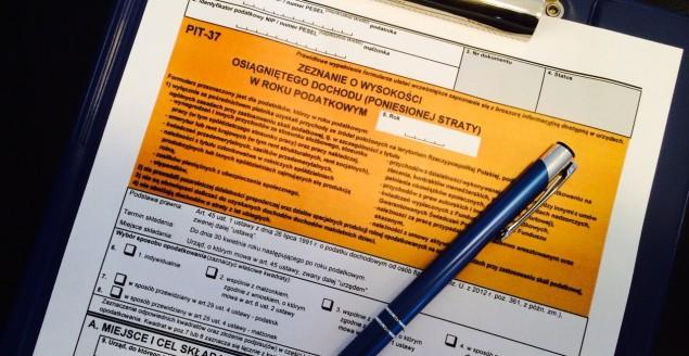 PIT, zeznanie podatkowe