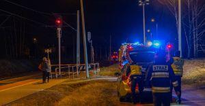 [FOTO] Potrącenie mężczyzny przez pociąg w Goczałkowicach